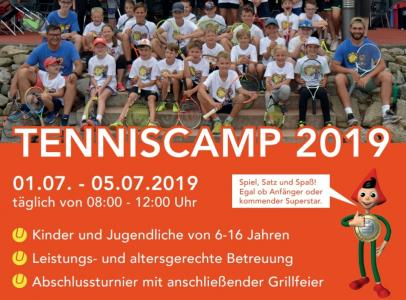 ANMELDESTOPP - TENNISCAMP 2019